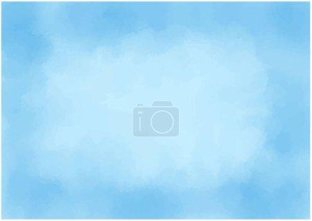 Illustration pour Matériel de fond Texture aquarelle bleu clair - image libre de droit