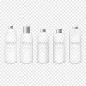 Glass bottle set Package collection for toner soups foams shampoo and other cosmetics