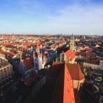 Beautiful super wide-angle sunny aerial view of Mu...