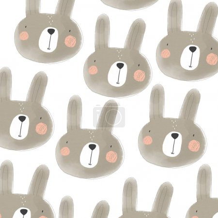 print with cute bunny