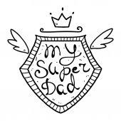 illustration for my super dad