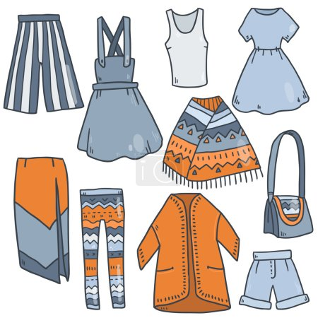 woman clothes icons
