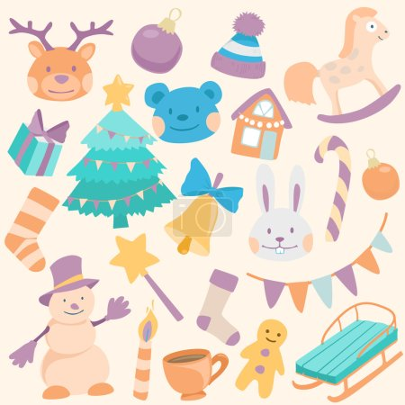 cartoon christmas icons