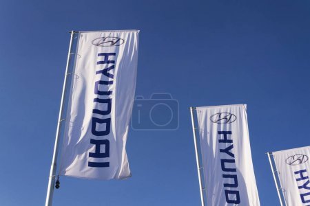Hyundai company logo on Czech