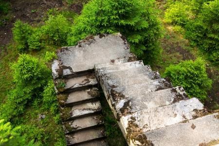 Concrete stairs, Tin mine Rolava, Prison camp Saue...