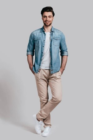 Handsome young man in casual wear
