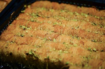 Photo for Tasty turkish baklava dish - close up view - Royalty Free Image