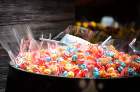 Photo for Artisanal mix candies within the candy shop in Prague - Royalty Free Image