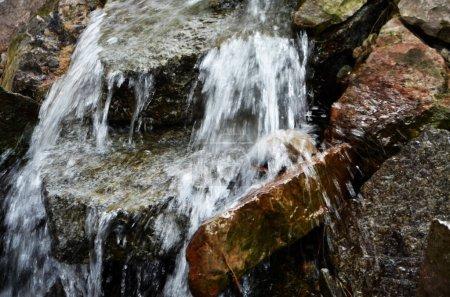 Natural water source close up view...