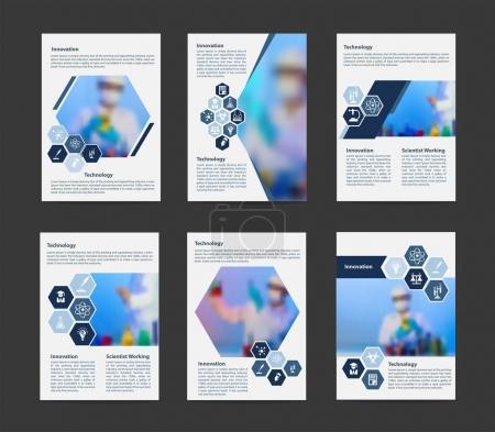 Flyer cover business brochure magazine vector design