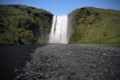 beautiful waterfall on nature background