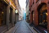 Old Riga small narrow and empty street