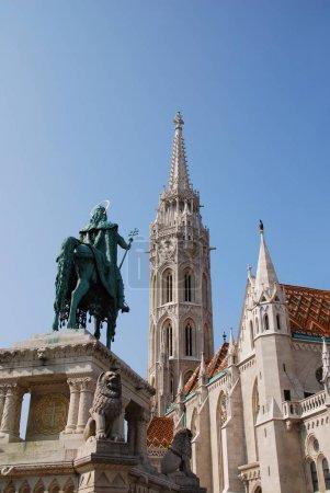 """Photo pour King stephen i devant l """"église matthias - image libre de droit"""