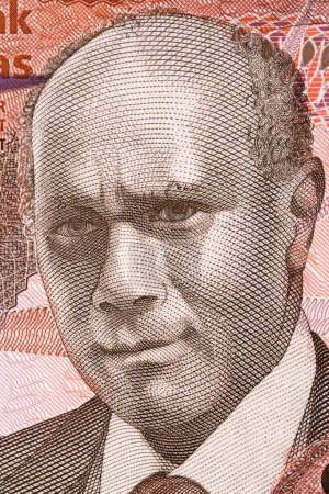 Cecil Wallace-Withfield portrait from Bahamian money