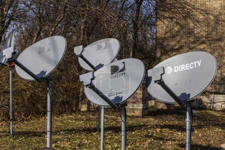 Lafayette - Circa February 2017: Several DirecTV Satellite Dishes. DirecTV is part of AT&T I