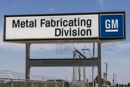 Photo pour Marion - vers avril 2017 : General Motors Metal fabrication Division. Fondée en 1956 comme corps de Fisher, la plante est maintenant partie d'organisation de fabrication estampage de Gm j'ai - image libre de droit
