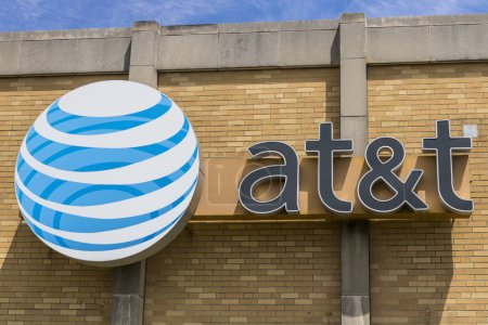 Indianapolis - Circa May 2017: AT&T Central Office. AT&T now offers IPTV, VoIP, Cell Phones and DirecTV XVI