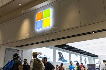 Las Vegas - Circa July 2017: Microsoft Retail Technology Store. Microsoft develops and manufactures Windows and Surface software VIII
