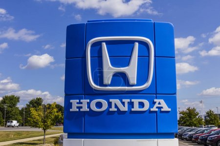 Indianapolis - Circa September 2017: Honda Motor Co. Logo and Sign. Honda Manufactures Among the Most Reliable Cars in the World VIII