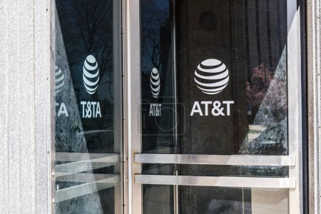 Dayton - Circa April 2018: Dayton - Circa April 2018: AT&T downtown office. AT&T now offers IPTV, VoIP, Cell Phones and DirecTV XIV