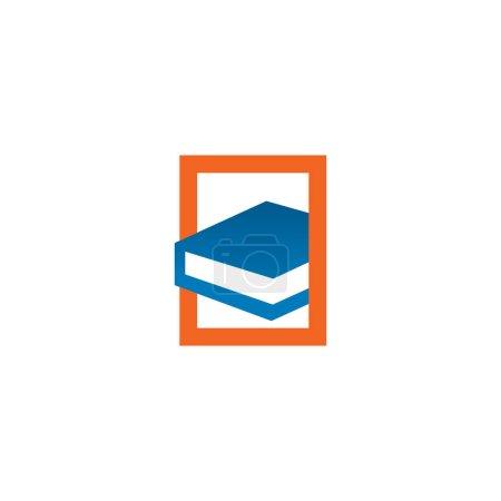 Book logo design inspiration vector template...