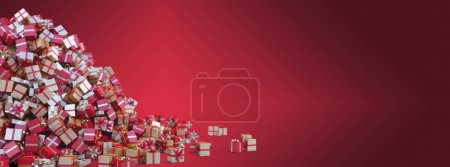 Photo pour Arriere-plan de Noël Rouge pour carte de voeux - Avec espace pour texte - image libre de droit