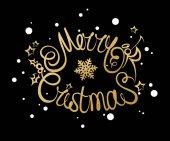 Veselé Vánoce nápisy designu. Vektorové ilustrace Eps10 formát