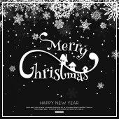 Veselé Vánoční blahopřání s sněhové vločky. Vektorové ilustrace eps10 formát
