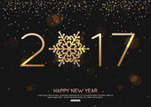 Šťastný nový rok 2017 modré pozadí