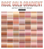 Rose gold gradient perfect colors for design Vector illustration