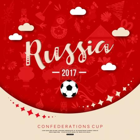 Russia football tournament red background
