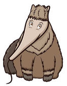 Giant Anteater Cartoon Animal Character Isolated on White Background