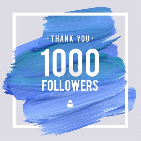 Vector thanks design template for network friends and followers. Thank you 1 followers card. Image for Social Networks. Web user celebrates large number of subscribers or followers
