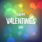 Happy Valentines Day Vector Bokeh Rainbow Background