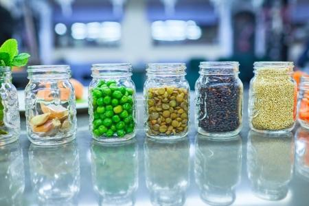 Food ingredients in jars