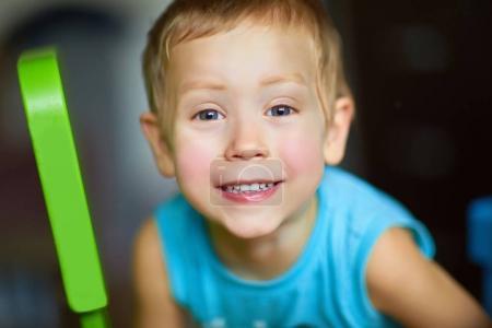 little cute smiling boy close up