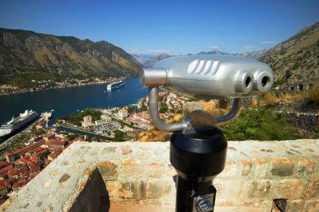 binoculars on the observation platform