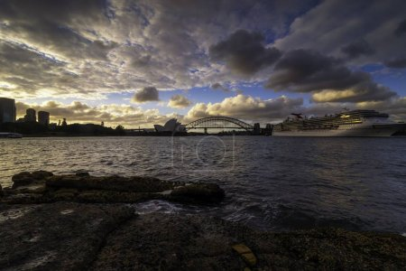 Photo for Opera House view from Mrs Macquarie's Chair on twilight time - Royalty Free Image