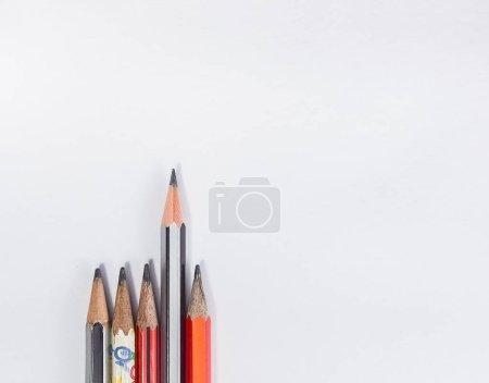 Back to school concept- a Pencil,erasor, sharpner ...