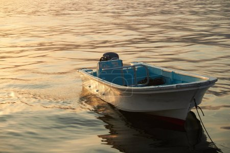 Oman boat in the sea Mountain