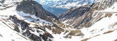 Gotthardpass, view of the valley of Tremola
