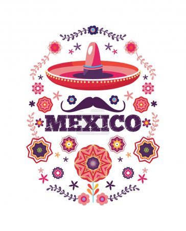 Mexican pattern, beautiful ethnic ornamert