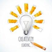 Idea Design of progress bar loading creativity