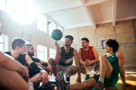 Photo for Shot of basketball players having fun on court. - Royalty Free Image