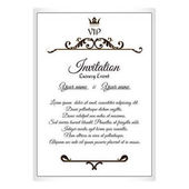 Elegant postcard for VIP invitations To attach to the envelope It is executed in the Victorian style with a leaf ornament Brown with white color Vector