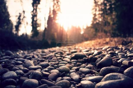 Pebble stones road