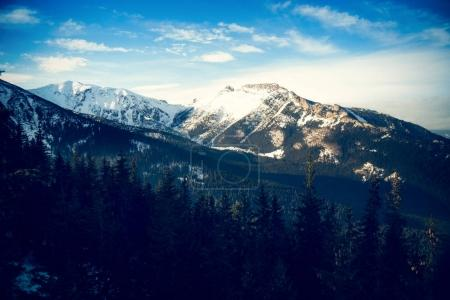 Snow capped Tatra mountains