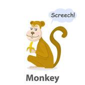 Monkey vector illistration