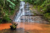 Cascades, beautiful waterfall in a rainforest. Long exposure. Bolivia