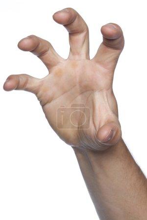 Photo pour Prise de geste et appropriation faite main - image libre de droit